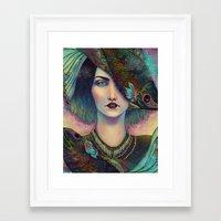 surrealism Framed Art Prints featuring Surrealism by Fernanda Maya