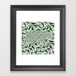 Bear Camouflage Framed Art Print