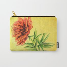 flower in a glass . illustration . art Carry-All Pouch