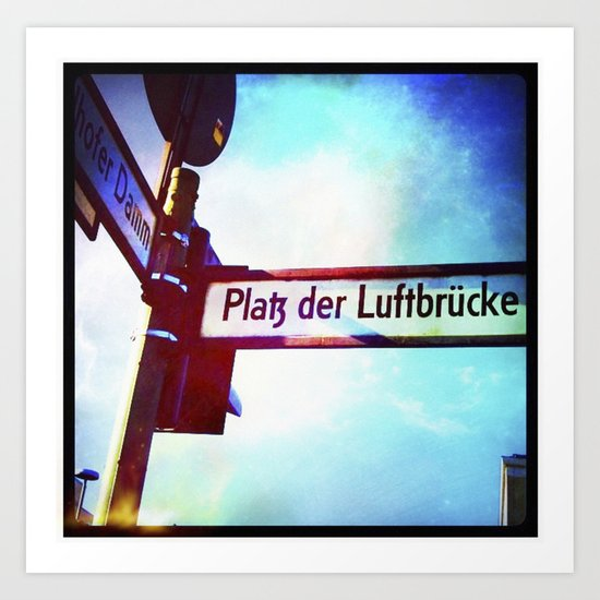 :: BERLIN STREET Art Print