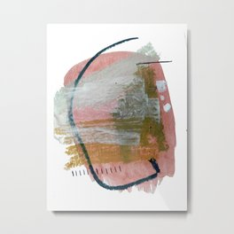 New Mexico: a pretty mixed media abstract in a variety of colors Metal Print