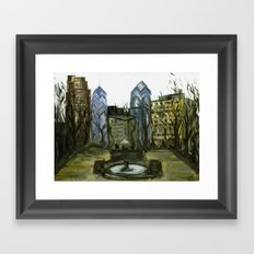 Rittenhouse Square in the Winter Framed Art Print