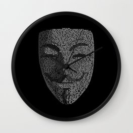 ...You May Call Me 'V' – So who's Anonymous? Wall Clock