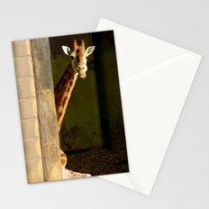shy giraffe Stationery Cards
