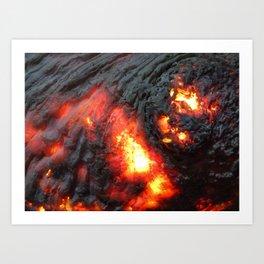 Flaming Seashell 4 Art Print