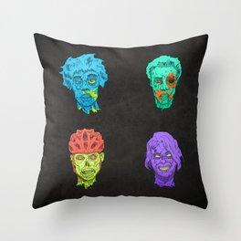 Zombie Quartet Throw Pillow