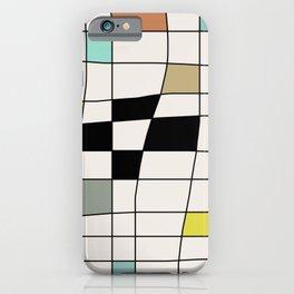 Mid Century Modern Warped Tiles iPhone Case
