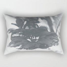 Bloom in Platinum Tone Rectangular Pillow