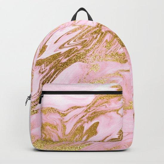 Rose Gold Mermaid Marble Backpack