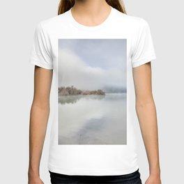 Foggy lake. At sunrise T-shirt