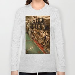 The USS Batfish SS-310 - In the Pump Room, below the Conning Tower Long Sleeve T-shirt