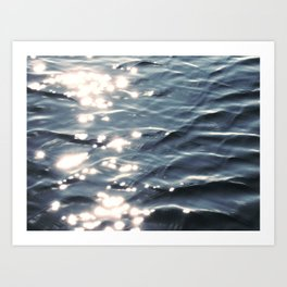 Sunlight on Ocean Water Waves Art Print