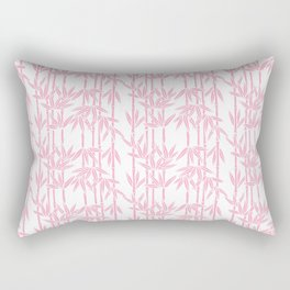 Bamboo Rainfall in Blushing Bride Rectangular Pillow