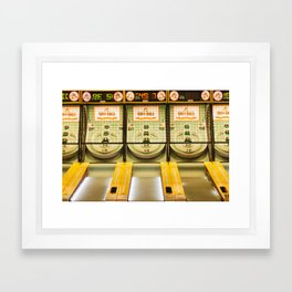 Skee Ball Framed Art Print
