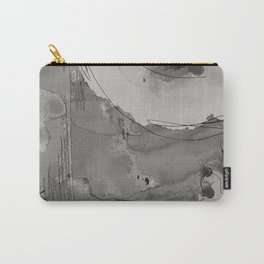 Abstract Watercolor b/w Carry-All Pouch