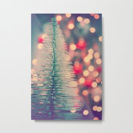 Seasons Greetings 3 -- Retro Sparkle Metal Print