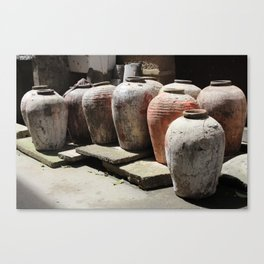 Chinese Wine Jar Canvas Print
