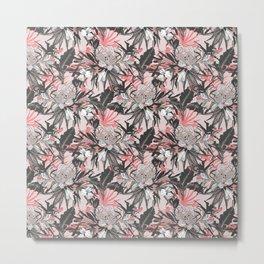 Floral abstract pink Metal Print