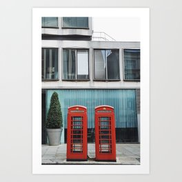 Telephone Booth, London Art Print