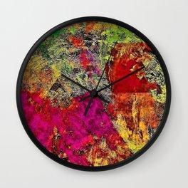 Rustic Watercolors in Abstract by Jeanpaul Ferro Wall Clock