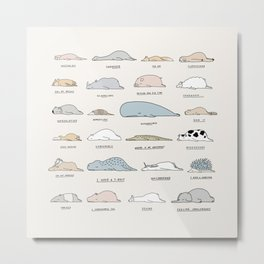 The Moody Animals (Colours) Metal Print