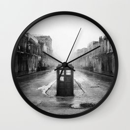 Tardis And The Old City Wall Clock