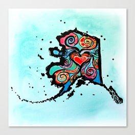 Alaska Love Canvas Print