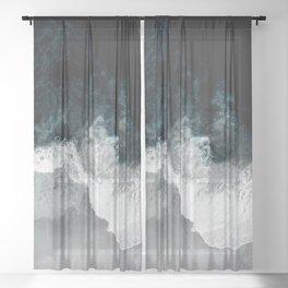 Blue Sea Sheer Curtain