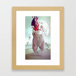 The hands of fate Framed Art Print