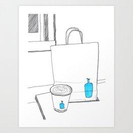 Bluebottle in San Francisco Art Print