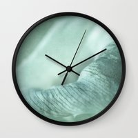 plant Wall Clocks featuring plant by mexi-photos