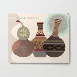 African Gourd II Metal Print