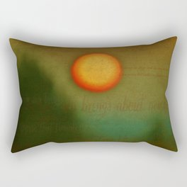 Morn - Textured Photography Rectangular Pillow