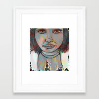 bianca green Framed Art Prints featuring Bianca by Kendra Bailey