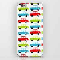 cars iPhone & iPod Skins featuring cars by laura mendoza v.
