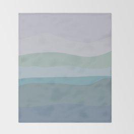 Calming Ocean Waves in Soft Dusty Pastels Throw Blanket