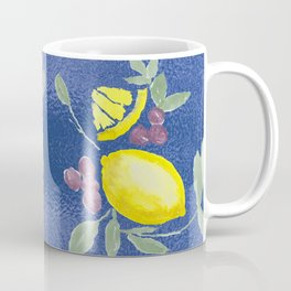 Lemons on Blue Coffee Mug