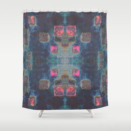 Toppled Ceramic Tiling Infared Style Shower Curtain