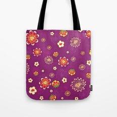 Purple Burst Tote Bag