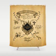 Marauders Map Shower Curtain