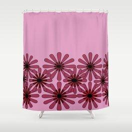 Pink Flower Pattern 1 Shower Curtain