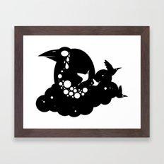 12 crows/ cloud Framed Art Print