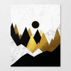 Landscape Marble, Black & Gold Canvas Print