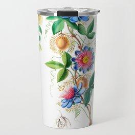 Vintage Botanical Le Marie Gougeat Flore D Amerique Travel Mug