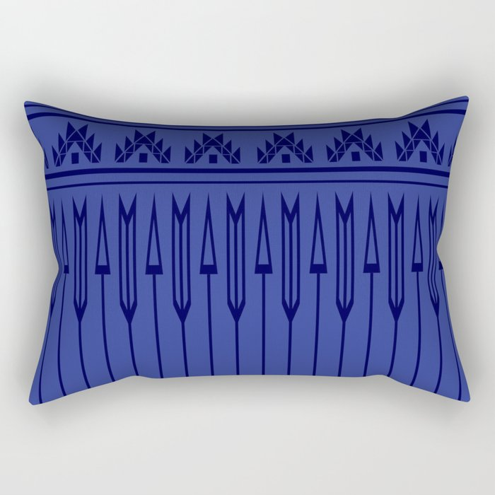 Arrows (Blue) Rectangular Pillow