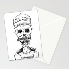 Make America Great Again, with zombies Stationery Cards