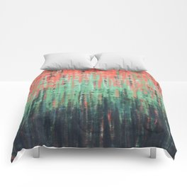 Coral Mint Navy Abstract Comforters