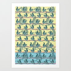 Squirrels! Art Print