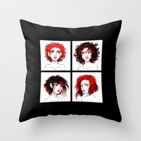 suits Throw Pillows featuring The Suits by AndytheLemon