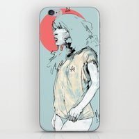 korea iPhone & iPod Skins featuring Korea Girl by Dave Long [A1W]